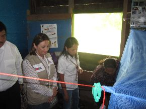 Vivienda modelo libre de zancudo transmisor del dengue. Foto: Minsa.