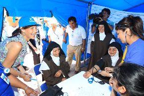 Pobladores de Manchay se beneficiaron con campaña de despistaje de cáncer de piel. Foto: Andina/Difusión