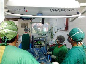 Cirugía laparoscópica en Hospital Vitarte. Foto: Hospital Vitarte.