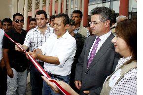 El presidente Ollanta Humala inauguró hospital Santa María del Socorro de Ica. En el acto participaron el embajador de España en el Perú, Juan Carlos Sánchez; y la ministra de Salud, Midori De Habich.