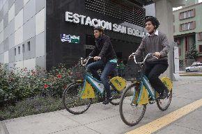 Vecinos de San Borja podrán ir a las estaciones del Metro de Lima en bicicleta. Foto: ANDINA/Difusión.