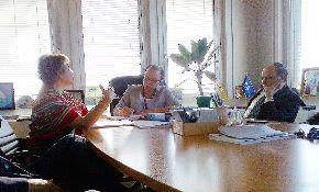 Directora del Departamento de Normas de la OIT, Cleopatra Doumbia-Henry, y ministra de Trabajo de Perú, Nancy Laos. Foto: MTPE.
