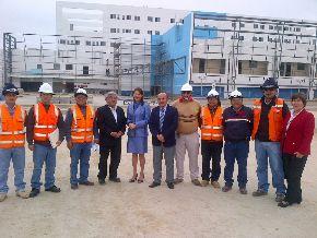 Virginia Baffigo, visitó el futuro hospital de alta complejidad que construye EsSalud en Trujillo.