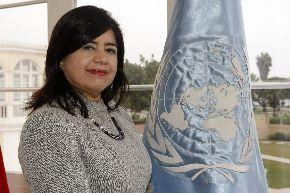 Representante del Programa de las Naciones Unidas para el Desarrollo (PNUD) en el Perú, Rebeca Arias. ANDINA/Norman Córdova