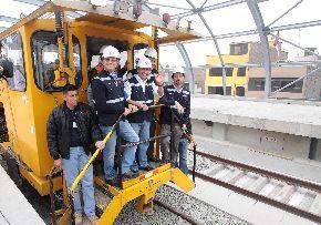Presidente Ollanta Humala supervisó conclusión de trabajos en puentes Rímac y Huáscar del Metro de Lima, en San Juan de Lurigancho. Foto: ANDINA/Prensa Presidencia ANDINA/Prensa Presidencia.