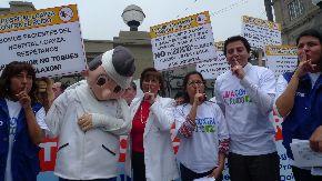 Continúa campaña contra uso indebido de claxon. Foto: ANDINA/Renato Pajuelo