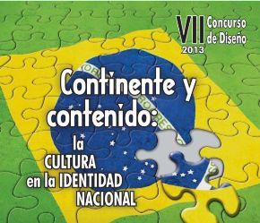Afiche del concurso de diseño convocado por la Embajada de Brasil en Perú.