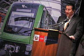 Ministro de Transportes y Comunicaciones, Carlos Paredes, inaugura el III encuentro internacional de metros Foto: ANDINA/Melina Mejía.