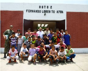 """Jóvenes del Vraem participan en torneo internacional """"Copa Amistad 2013"""". Foto: Difusión."""