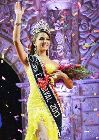 CAJAMARCA, PERÚ-FEBRERO 03. Fátima Limo Malaver fue elegida la reina del carnaval de Cajamarca. Foto: ANDINA/Eduard Lozano.