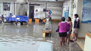 Lluvia se prolongó por nueve horas. Foto:ANDINA/José Hidalgo.