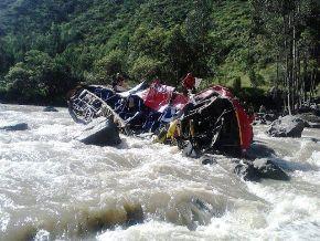 Accidente en sierra de La Libertad. Foto:ANDINA/Gerencia Regional de Salud.
