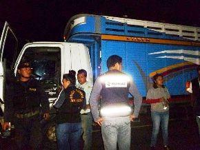 La Sunat intervino a 15 camiones que se dirigían a las ciudades de Cutervo y Chota, en Cajamarca.