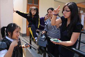 Alumnos con sordera estudiarán con nueva metodología. Foto: Andina/Difusión