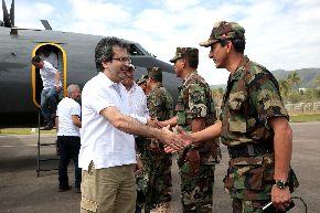 MAZAMARI,PERÚ-AGOSTO 19.Foto:   Presidente del Consejo de Ministros, Juan Jiménez, llega para liderar marcha por la paz. ANDINA/Carlos Lezama