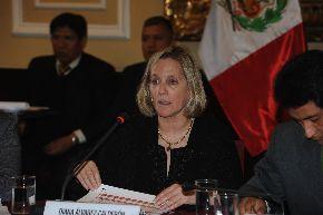 Ministra de Cultura, Diana Álvarez Calderón Gallo. ANDINA/Difusión