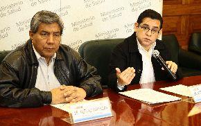 Representantes del Minsa ofrecieron hoy conferencia de prensa. Foto: ANDINA/Difusión