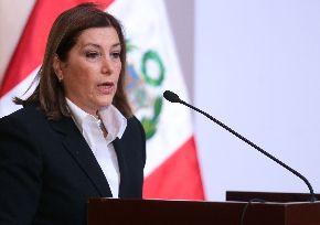 Peruvian Foreign Minister, Eda Rivas Franchini. Photo: ANDINA/Carlos Lezama