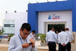 """la 51 edición de CADE Ejecutivos - CADE 2013 en Paracas, Pisco, cuyo lema es """"Renovando el Espíritu de Paracas"""", y reunirá a unos 1,000 empresarios de todo el país.Foto: ANDINA/Carlos Lezama."""