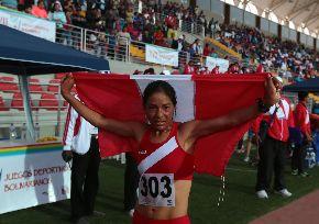 Atleta peruana Inés Melchor. ANDINA/Jack Ramón