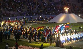 Clausura de los XVII Juegos Bolivarianos. ANDINA/Jack Ramón