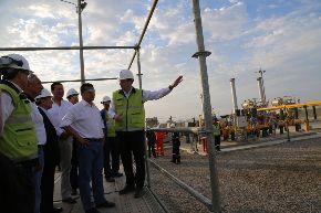 Presidente de la Republica, Ollanta Humala, visitó el Centro Operacional de Gas Natural de Pisco.