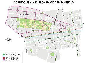 Plano del corredor vial Arequipa-Garcilaso de la Vega-Tacna en el sector de San Isidro.