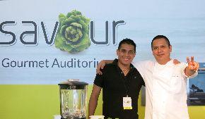 Peruvian chefs Daniel Chavez and Antonio Benites.