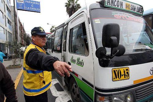 Se anularon miles de papeletas porque inspectores de transportes las aplicaron erradamente. Foto: ANDINA/Difusión