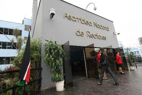 Asamblea Nacional de Rectores. Foto: ANDINA/Norman Córdova