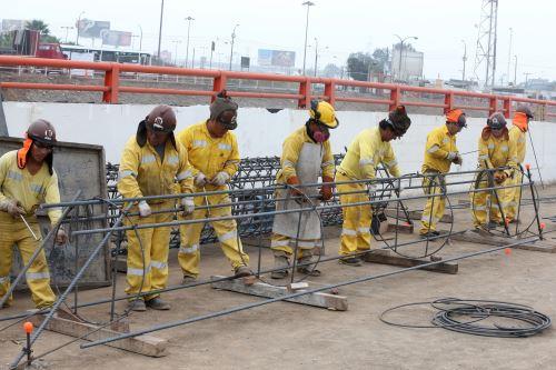 Continúan trabajos de megaproyecto Vía Parque Rímac. Foto: ANDINA/Vidal Tarqui