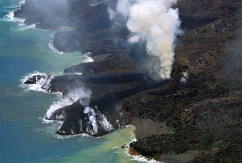 Japón: Científicos advierten que isla volcánica podría hundirse y crear tsunami. Foto: AFP.