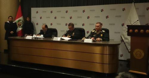 Reniec y Policía Nacional suscriben convenio de cooperación. Foto: Andina/Difusión