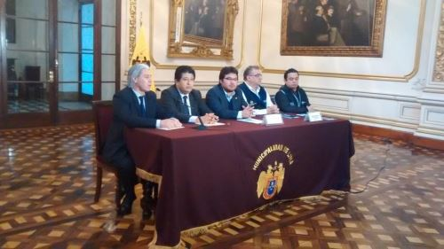 Conferencia de prensa sobre funcionamiento del Corredor Azul.
