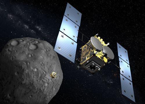 Japón presenta nueva sonda espacial para explorar un asteriode. Foto: AFP.
