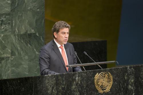 El representante permanente del Perú ante las Naciones Unidas, Gustavo Meza-Cuadra. Difusión