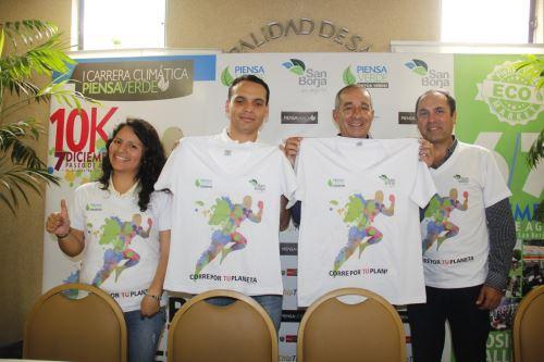 San Borja organiza carrera Corre por tu planeta en el marco de la COP20. Foto: Andina/Difusión