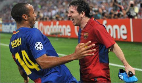 Thierry Henry y Lionel Messi, la temible dupla del Barcelona.