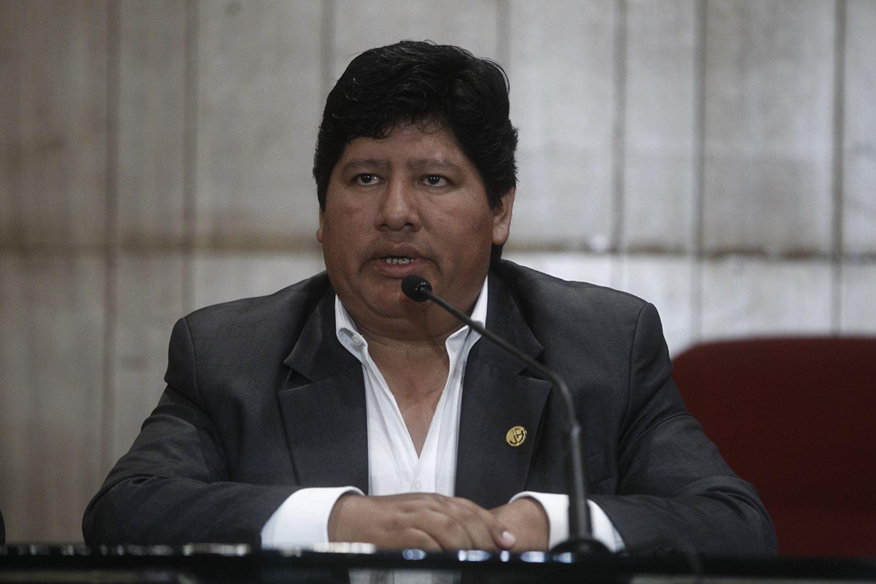 Presidente de la Federación Peruana de Fútbol, Edwin Oviedo. ANDINA/Juan Carlos Guzmán