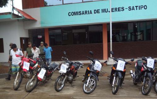 Desarticulan banda dedicada a robar motos en Satipo.