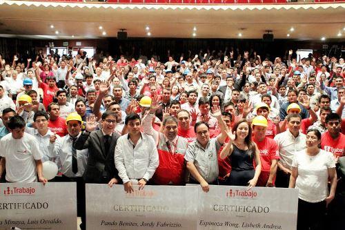 Más de 42 mil personas se beneficiaron con Programa Vamos Perú del Ministerio de Trabajo.