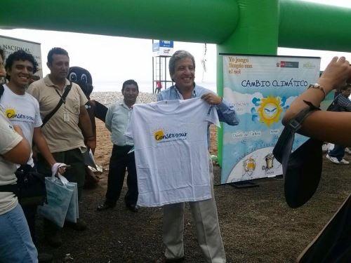 Ministro del Ambiente, Manuel Pulgar Vidal.