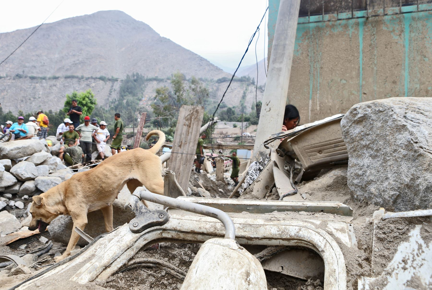 Huaico dejó sin vivienda a decenas de famlias. Foto: ANDINA/Oscar Farje