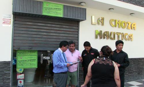Cierre temporal de La Choza Náutica de Breña. Foto: ANDINA/Difusión.