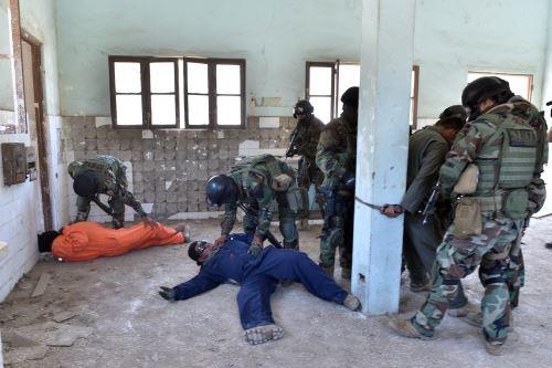 Entrenamiento en rescate. Foto: Difusión