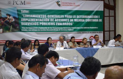 Funcionarios del Gobierno central iniciaron coordinaciones para mejores los servicios públicos que se brindan en las regiones.