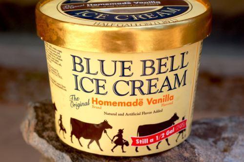 Helado de la marca Blue Bell. Foto: Internet.