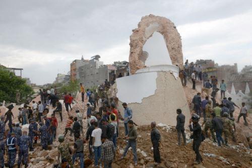 Unos 6,6 millones de nepaleses fueron afectados por el terremoto, estima las Naciones Unidas. AFP