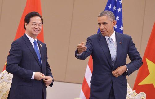 Presidente Barack Obama y el Primer Ministro de Vietnam, Nguyen Tan Dung. Foto: AFP