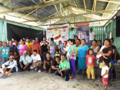 Participaron usuarios de comunidades de San Martín de Tipishca, Bolívar, La Luz, Fortuna y Leoncio Prado.